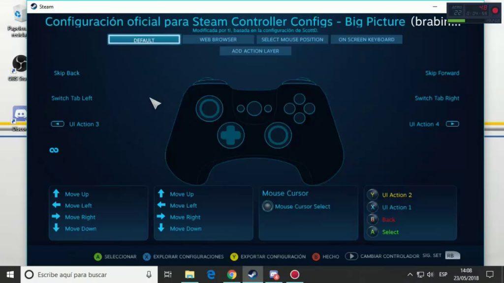Configurar mando DualSense en Steam
