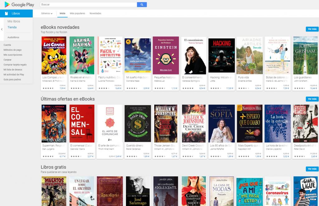 Tienda de libros de google
