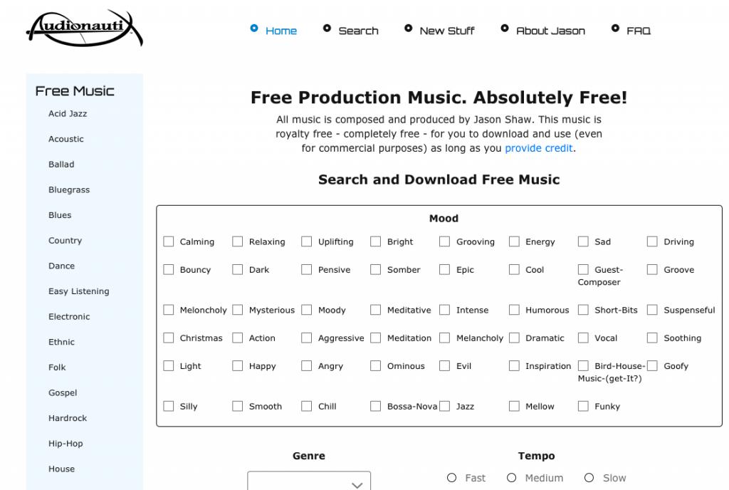 Audionautix Free Music Download Site 1024x688 1