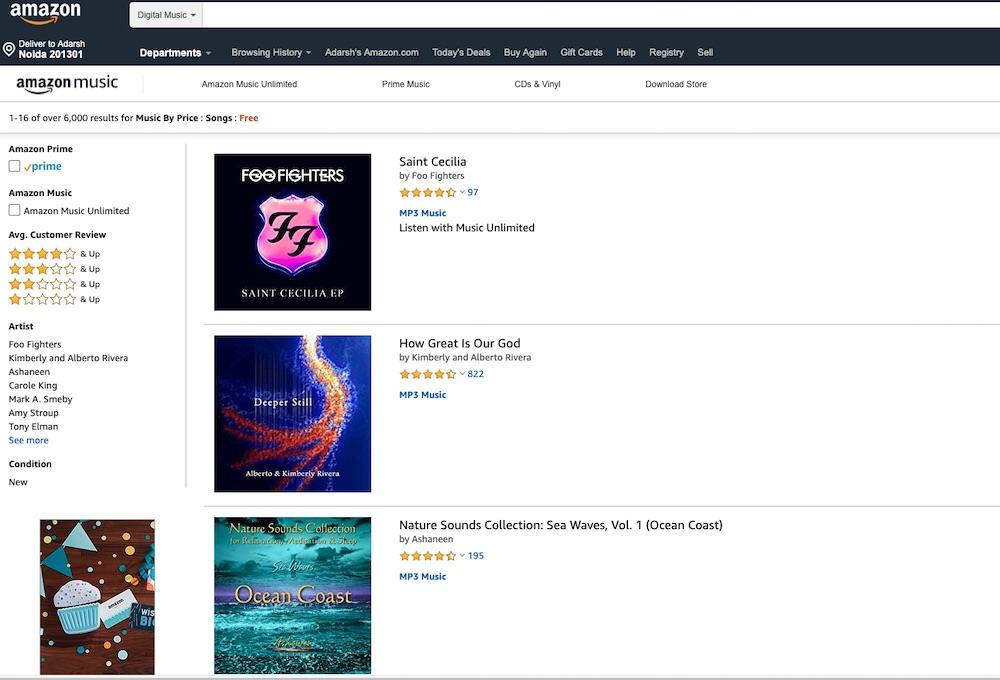 Free Music On Amazon Web Store