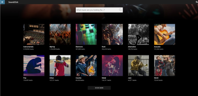 Sound Click Free Music Websites